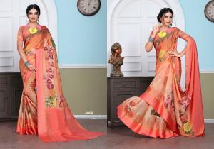 Designer Printed Saree 4008
