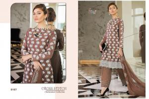 Shree Fabs Cross Stitch Chikankari Collection 8187