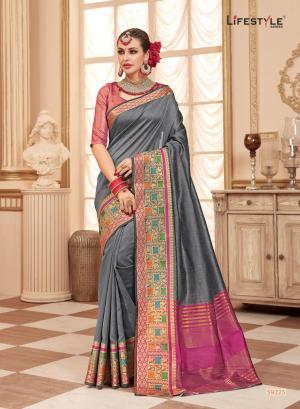 Lifestyle Saree Resham Silk 59225