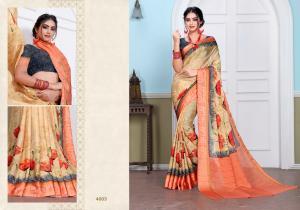 Designer Printed Saree 4003