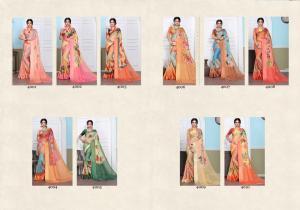 Designer Printed Saree 4001-4010