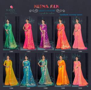 Rajtex Saree Keena Silk 72001-72010