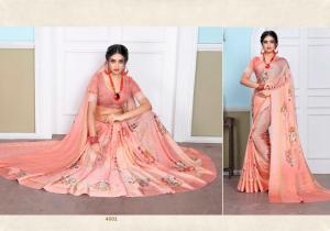 Designer Printed Saree 4001