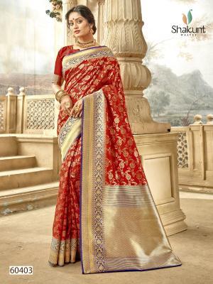 Shakunt Saree Meenal 60403