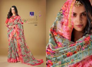 Shangrila Saree Kajal Linen 4888