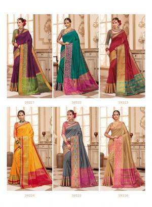 Lifestyle Saree Resham Silk 59221-59226