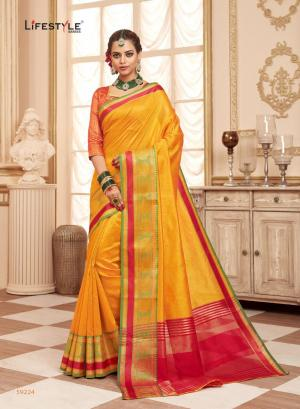 Lifestyle Saree Resham Silk 59224