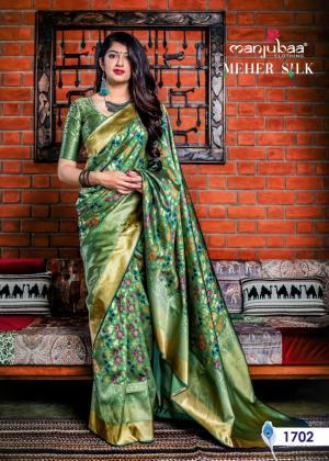 Manjubaa Meher Silk 1702