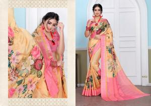 Designer Printed Saree 4002