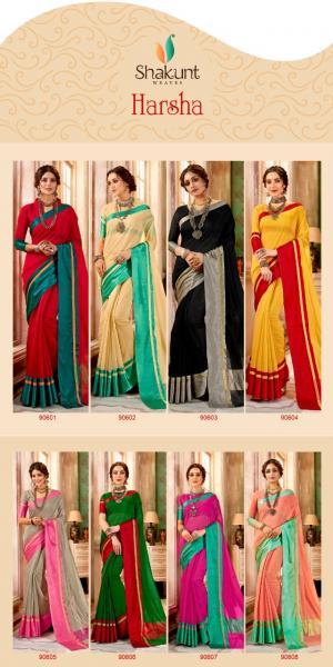 Shakunt Saree Harsha 90601-90608