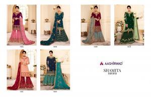 Aashirwad Creation Gulkand Shamita Sarara 8165-8170