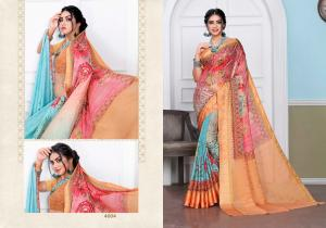 Designer Printed Saree 4004