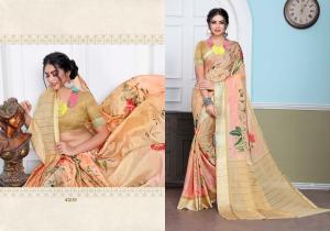 Designer Printed Saree 4009