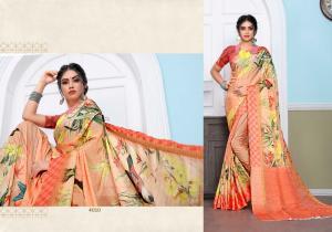 Designer Printed Saree 4010