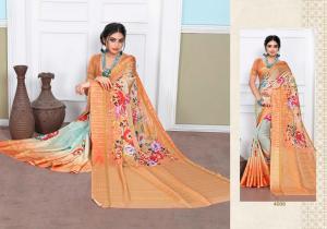 Designer Printed Saree 4006