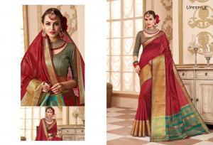 Lifestyle Saree Resham Silk 59223