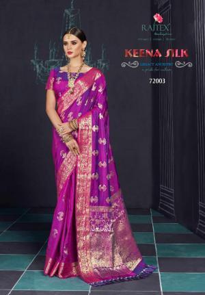 Rajtex Saree Keena Silk 72003