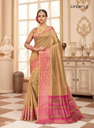 Lifestyle Saree Resham Silk 59226