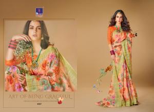 Shangrila Saree Kajal Linen 4887