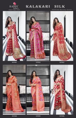 Rajtex Saree Kalakari Silk 107001-107006