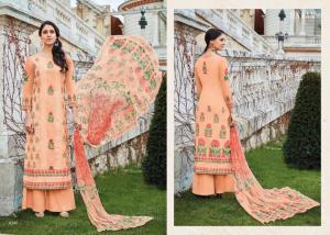 Jinaam Dress Mughal Motifs 8286