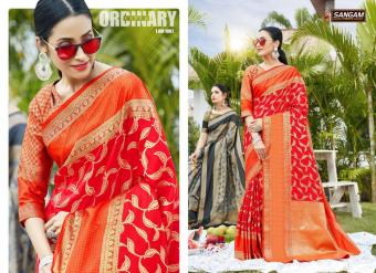 Sangam Saree Anushka wholesale saree catalog