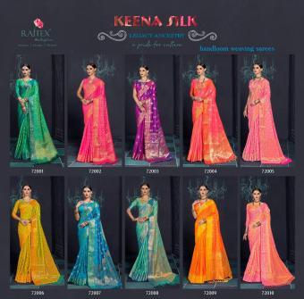 Rajtex Saree Keena Silk wholesale saree catalog