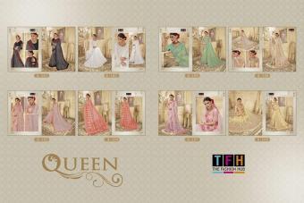 TFH Fashion The Queen wholesale saree catalog