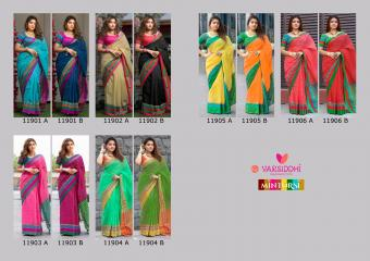Varsiddhi Fashions Mintorsi Keshar Cotton wholesale saree catalog