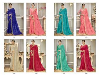 Triveni Saree Kinara wholesale saree catalog