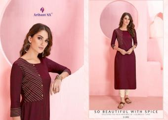 Arihant NX Vamika Rozmin wholesale Kurti catalog