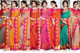Sangam Prints Nirmaya wholesale saree catalog
