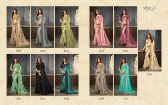 Anmol Creations Shades wholesale saree catalog