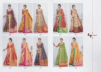 LT Fabrics Katan Silk wholesale saree catalog