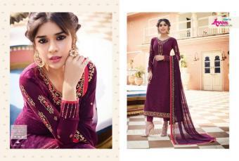Avon Trendz Crape Silk  Wholesale Salwar Kameez Catalog