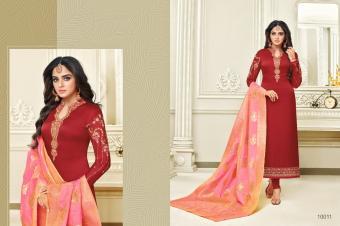 Meera Trendz Zisa Vol 51 Banarasi Dupatta Wholesale Salwar Kameez Catalog
