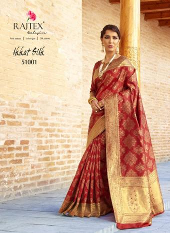Rajtex Saree  Ikkat Silk Wholesale Sarees Catalog Wholesale Catalog
