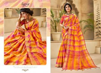 Saroj Apple Linen Cotton Wholesale Sarees Catalog Wholesale Catalog