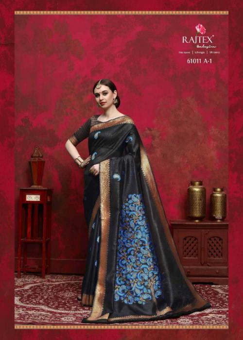 Rajtex Saree Kalika Silk 61011 A wholesale saree catalog
