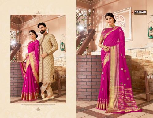 Sangam Prints Zoya wholesale saree catalog