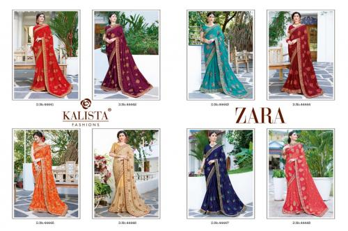 Kalista Fashions Zara wholesale saree catalog