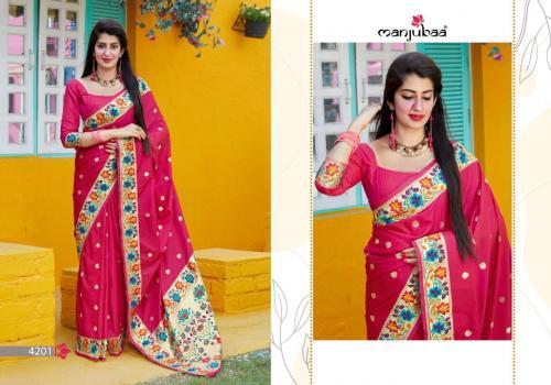 Manjuba Saree Maanika Silk wholesale saree catalog