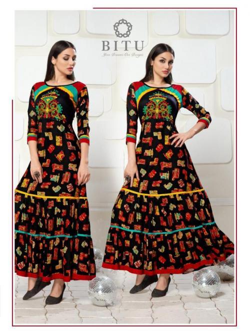 Bitu Stripes wholesale Kurti catalog