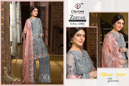 Charizma Designer Zebtan Embroidery Collection wholesale Salwar Kameez catalog