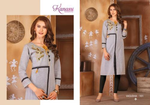 Kanasu Fashion Vasudha wholesale Kurti catalog