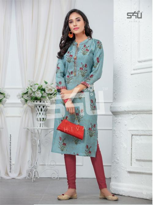 Shivali S4U Womaniya Vol-15 wholesale Kurti catalog