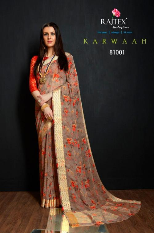Rajtex Karwaah wholesale saree catalog