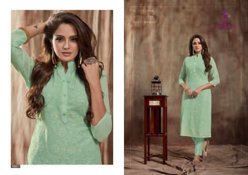 Poonam Designer Lucknowi wholesale Kurti catalog