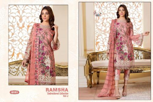 Shree Fabs Ramsha Embroidered Collection Vol-2 wholesale Salwar Kameez catalog