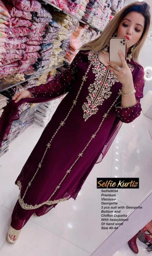 Selfie Designer Kurtis 9034 Colors  wholesale Kurti catalog